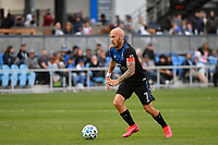 SAN JOSE, CA - FEBRUARY 29: Magnus Eriksson #7 of the San Jose Earthquakes during a game between Toronto FC and San Jose Earthquakes at Earthquakes Stadium on February 29, 2020 in San Jose, California.