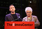 Andrew Lippa and Roe Green attends The Dramatists Guild Fund presents 'The Legacy Project: Volume III' screening  at The Time Center on December 3, 2016 in New York City.