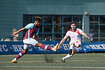 West Ham United (in purple) vs Yau Yee League Select (in white), during their Main Tournament match, part of the HKFC Citi Soccer Sevens 2017 on 27 May 2017 at the Hong Kong Football Club, Hong Kong, China. Photo by Marcio Rodrigo Machado / Power Sport Images