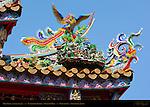 Kanteibyo Temple, Guan di Miao, Main Gate Detail Lower Right, Chinatown, Yokohama, Japan