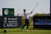 Jazz Janewattananond (THA) on the 11th during Round 1 of the Saudi International at the Royal Greens Golf and Country Club, King Abdullah Economic City, Saudi Arabia. 30/01/2020<br /> Picture: Golffile | Thos Caffrey<br /> <br /> <br /> All photo usage must carry mandatory copyright credit (© Golffile | Thos Caffrey)