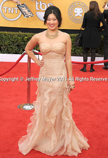 LOS ANGELES, CA - January 30: Jenna Ushkowitz arrives at the 17th Annual Screen Actors Guild Awards held at The Shrine Auditorium on January 30, 2011 in Los Angeles, California.