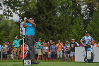 Phil Mickelson (USA) watches his tee shot on 4 during 1st round of the World Golf Championships - Bridgestone Invitational, at the Firestone Country Club, Akron, Ohio. 8/2/2018.<br /> Picture: Golffile | Ken Murray<br /> <br /> <br /> All photo usage must carry mandatory copyright credit (&copy; Golffile | Ken Murray)