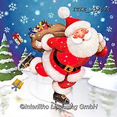 Christmas - Santas and snowmen paintings