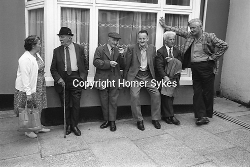 Holsworthy Devon England 1975 Men at  the Pretty Maid of Holsworthy annual folklore country custom