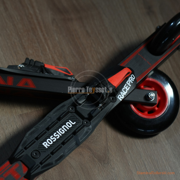 A picture of a brand new Rollerski Stamina STS 1.C with the Rossignol Pro Race Skate Turnamic binding  © www.staminarollerski.com Free for download - Just ask us