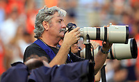 Fans, photographers and cheerleaders during the game Saturday Sept. 6, 2014 at Scott Stadium in Charlottesville, VA. Virginia defeated Richmond 45-13. Photo/Andrew Shurtleff