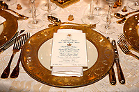 State Dinner honoring President Emmanuel Macron of France Dining Room Seting