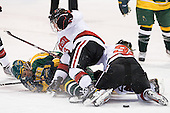 Kali Gillanders (Clarkson - 19), Katie MacSorley (Northeastern - 3), Lucie Povova (Northeastern - 92) - The Northeastern University Huskies defeated the visiting Clarkson University Golden Knights 5-2 on Thursday, January 5, 2012, at Matthews Arena in Boston, Massachusetts.