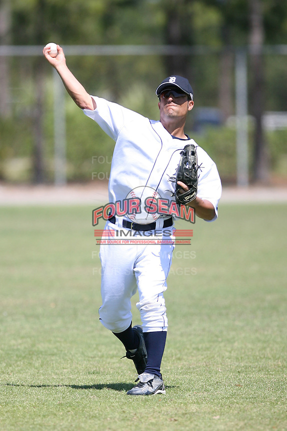 March 21st 2008:  Marc McBratney of the Detroit Tigers minor league system during Spring Training at Tiger Town in Lakeland, FL.  Photo by:  Mike Janes/Four Seam Images
