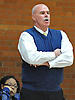 Kevin White, head coach of St. Mary's varsity girls' basketball, watches the action during an NSCHSAA game against St. Anthony's at St. Mary's High School on Tuesday, Jan. 19, 2016.