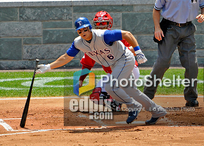 22 June 2008: Texas Rangers' third baseman German Duran in action at the plate against the Washington Nationals at Nationals Park in Washington, DC. The Rangers defeated the Nationals 5-3 in the final game of their 3-game inter-league series...Mandatory Photo Credit: Ed Wolfstein Photo