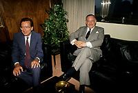 FILE - Robert Bourassa et <br /> Jacques Parizeau circa  1990<br /> <br /> <br /> PHOTO  : Pierre Roussel - Agence Quebec Presse