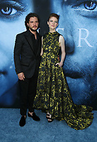 "LOS ANGELES, CA July 12- Kit Harington, Rose Leslie,  At Premiere Of HBO's ""Game Of Thrones"" Season 7 at The Walt Disney Concert Hall, California on July 12, 2017. Credit: Faye Sadou/MediaPunch"