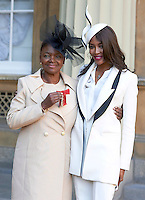 27 October 2016 - London, England - Naomi Campbell with Baroness Valerie Amos after receiving her Member of the Order of the Companion of Honour at Buckingham Palace in London. Photo Credit: Alpha Press/AdMedia