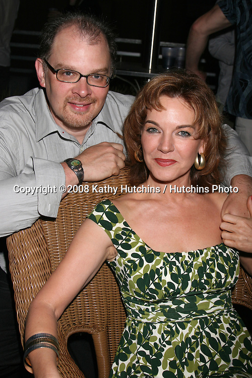 Robin Riker & Husband Evan A. Nesbitt attending the  Daytime for Planned Parenthood Event at a rooftop in Hollywood, CA.June 18, 2008.©2008 Kathy Hutchins / Hutchins Photo .