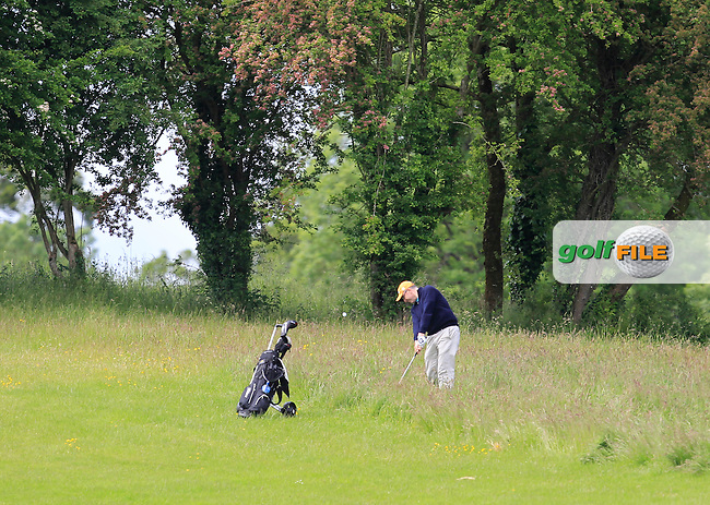 Donal O'Brien (Laytown &amp; Bettystown) on the 1st fairway during Round 1 of the Irish Mid-Amateur Open Championship at New Forest on Saturday 20th June 2015.<br /> Picture:  Thos Caffrey / www.golffile.ie