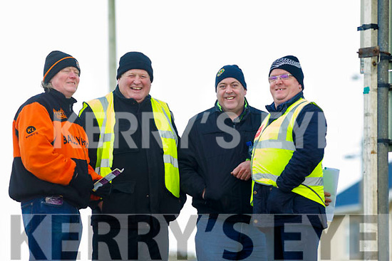 Members of the Ballyheigue Racing Committee as the get ready fortthe Ballyheigue Races on Wednesday last, l-r, Michael Leen, Christy Mahoney, Mike Kenny and Sean Keane.