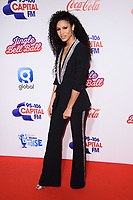 LONDON, UK. December 09, 2018: Vick Hope at Capital&rsquo;s Jingle Bell Ball 2018 with Coca-Cola, O2 Arena, London.<br /> Picture: Steve Vas/Featureflash