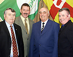 Paddy Mcmahon, (Left) with Pat Toner, Terry Maher and John Byrne at the Louth GAA County Board Annual Convention held in the Westcourt Hotel, Drogheda.