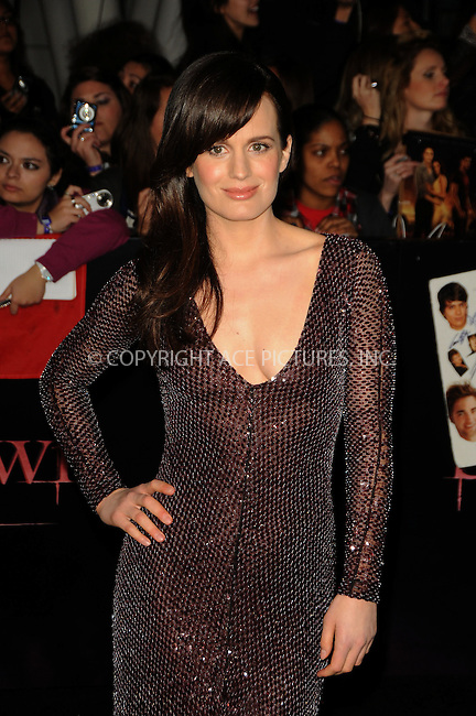 WWW.ACEPIXS.COM . . . . .  ....November 14 2011, LA....Elizabeth Reaser arriving at the Premiere of 'The Twilight Saga: Breaking Dawn - Part 1' at Nokia Theatre L.A. Live on November 14, 2011 in Los Angeles, California. ....Please byline: PETER WEST - ACE PICTURES.... *** ***..Ace Pictures, Inc:  ..Philip Vaughan (212) 243-8787 or (646) 679 0430..e-mail: info@acepixs.com..web: http://www.acepixs.com