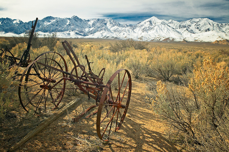 Antique farm implements. Museum of the Eastern Sierras. Independence, California