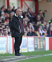 Grimsby Town manager Marcus Bignot <br /> during the Sky Bet League 2 match between Accrington Stanley and Grimsby Town at the Fraser Eagle Stadium, Accrington, England on 25 March 2017. Photo by Tony  KIPAX / PRiME Media Images.