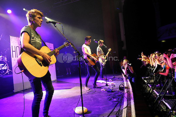 LONDON, ENGLAND - SEPTEMBER 1: George Smith, Blake Richard Richardson and Reece Bibby of 'New Hope Club' performing at Shepherd's Bush Empire on September 1, 2016 in London, England.<br /> CAP/MAR<br /> &copy;MAR/Capital Pictures /MediaPunch ***NORTH AND SOUTH AMERICAS ONLY***