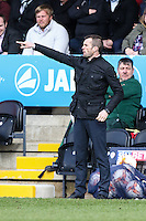 Nathan Jones (Manager) of Luton Town during the Sky Bet League 2 match between Barnet and Luton Town at The Hive, London, England on 28 March 2016. Photo by David Horn.