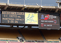 WASHINGTON, DC - July 28, 2012:  A little confusion as to who would be the opposition in an international friendly match against PSG, (Paris Saint-Germain) at RFK Stadium in Washington DC on July 28. The game ended in a 1-1 tie.