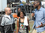 Peter Rosenberg, Rapsody and 9th Wonder Backstage at the 8th Annual Rock The Bells Held on Governors Island, NY  9/3/11