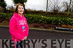 Noreen O'Neill from Ardfert who is taking part in a parachute jump for Recovery Haven pictured at  Horgans Centra Ardfert on Tuesday.