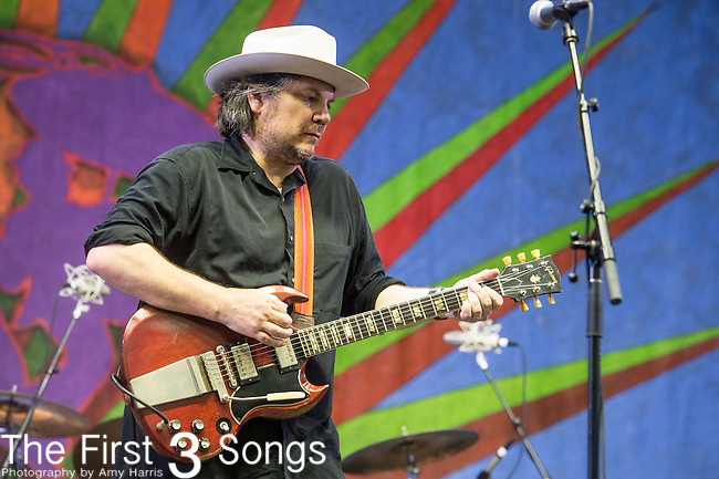 Jeff Tweedy of Wilco performs during the 2015 New Orleans Jazz & Heritage Festival in New Orleans, Louisiana.