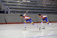SPEEDSKATING: CALGARY: 12-11-2015, Olympic Oval, training, schaatsers Columbia, ©foto Martin de Jong
