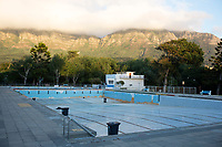 NEWLANDS, SOUTH AFRICA – FEBRUARY 7: A view of the empty public swimming pool on February 7, 2018 in Newlands, outside Cape Town, South Africa. The city of Cape Town is experiencing water shortage and water restrictions are in place. The big users of water are not the poor in the townships, but the wealthy people in the suburbs who have pools and gardens, and who are now forced to save on water. The popular pool has been closed for months due to water restrictions. (Photo by Per-Anders Pettersson)