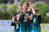 George Byers of Swansea City applauds the fans at the final whistle during the pre season friendly match between Exeter City and Swansea City at St James Park in Exeter, England, UK. Saturday, 20 July 2019