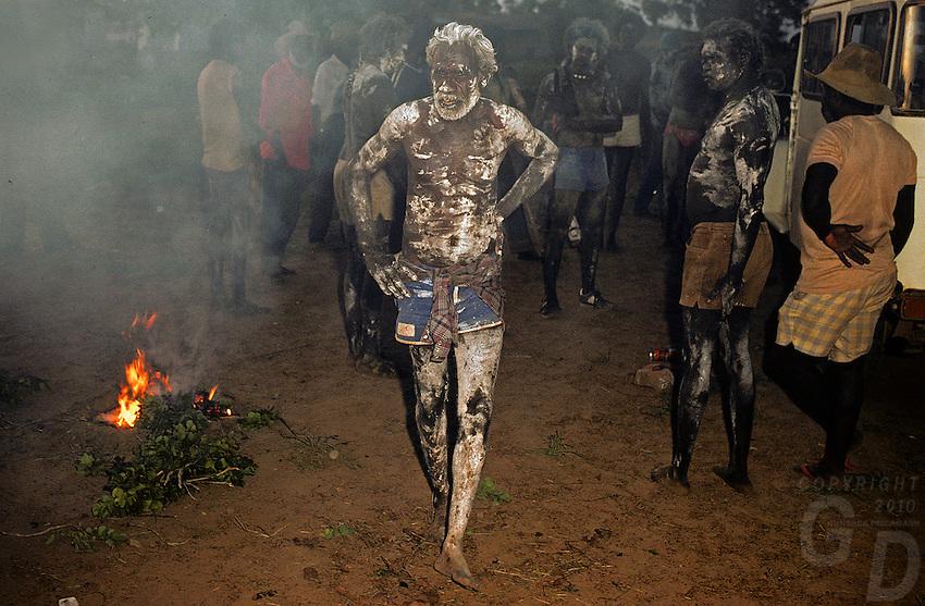 Aboriginal burial ceremony in Arnhem Land Northern territory Australia