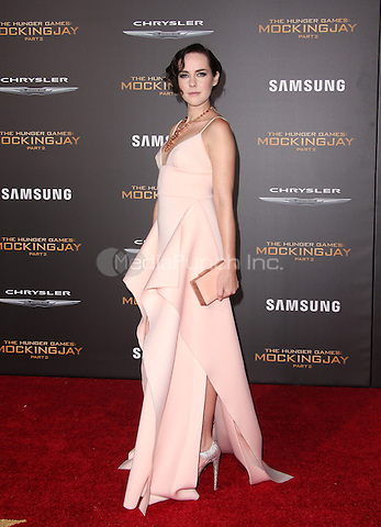 "Los Angeles, CA - November 16  Jena Malone Attending Premiere Of Lionsgate's ""The Hunger Games: Mockingjay - Part 2"" At Microsoft Theater On November 16, 2015. Photo Credit: Faye Sadou / MediaPunch"