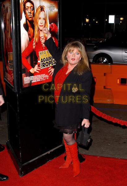 SALLY STRUTHERS.World Premiere of Against The Ropes held at The Graumann's Chinese Theatre inHollywood, California .11 February 2004                                                                    *UK Sales Only*.full length, full-length red knee high boots.www.capitalpictures.com.sales@capitalpictures.com.©Capital Pictures.