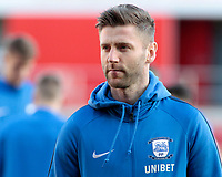 Preston North End's Paul Gallagher looks focussed before kick off<br /> <br /> Photographer David Shipman/CameraSport<br /> <br /> The EFL Sky Bet Championship - Rotherham United v Preston North End - Tuesday 1st January 2019 - New York Stadium - Rotherham<br /> <br /> World Copyright © 2019 CameraSport. All rights reserved. 43 Linden Ave. Countesthorpe. Leicester. England. LE8 5PG - Tel: +44 (0) 116 277 4147 - admin@camerasport.com - www.camerasport.com