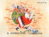 GIORDANO, CHRISTMAS SANTA, SNOWMAN, WEIHNACHTSMÄNNER, SCHNEEMÄNNER, PAPÁ NOEL, MUÑECOS DE NIEVE, paintings+++++,USGI2321,#X#