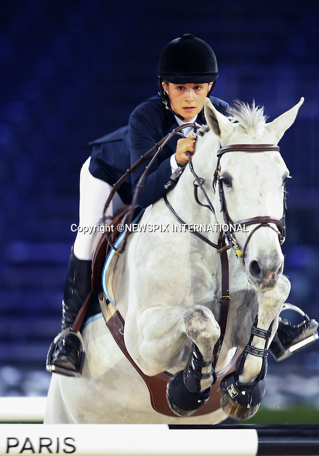 4.12.2014; Paris, France: ELECTRA NIARCHOS<br /> The 19-year-old  daughter of Philip Niarchos participates in the Masters Grand Slam competition, the Gucci Paris Masters 2014 at Paris Nord Villepinte.<br /> Mandatory Credit Photos: &copy;Huitel-Crystal/NEWSPIX INTERNATIONAL<br /> <br /> **ALL FEES PAYABLE TO: &quot;NEWSPIX INTERNATIONAL&quot;**<br /> <br /> PHOTO CREDIT MANDATORY!!: NEWSPIX INTERNATIONAL(Failure to credit will incur a surcharge of 100% of reproduction fees)<br /> <br /> IMMEDIATE CONFIRMATION OF USAGE REQUIRED:<br /> Newspix International, 31 Chinnery Hill, Bishop's Stortford, ENGLAND CM23 3PS<br /> Tel:+441279 324672  ; Fax: +441279656877<br /> Mobile:  0777568 1153<br /> e-mail: info@newspixinternational.co.uk