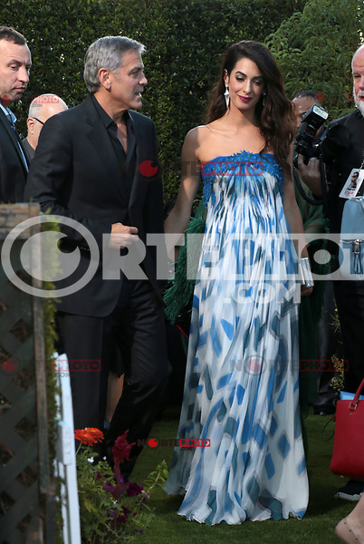 WESTWWOD, CA - October 22: George Clooney, Amal Clooney, At The Premiere Of Paramount Pictures' 'Suburbicon' At the Village Theatre California on October 22, 2017. Photo Credit: Faye Sadou /Media Punch /NortePhoto.com