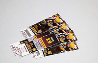 Drawing prize for tickets to Minnesota Gophers hockey game. Swedish Julbord American Swedish Institute Minneapolis Minnesota USA