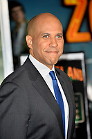 "LOS ANGELES, USA. October 11, 2019: Senator Cory Booker at the premiere of ""Zombieland: Double Tap"" at the Regency Village Theatre.<br /> Picture: Paul Smith/Featureflash"