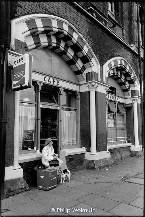 Railway Cafe, Pancras Road, King's Cross, London 1989.