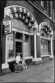 Railway Cafe, Pancras Road, King's Cross, London 1989.