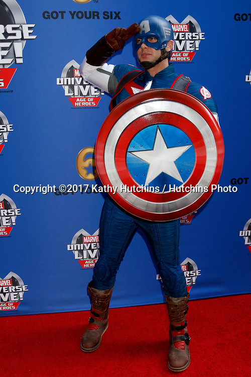 LOS ANGELES - JUL 8:  Captain America at the Marvel Universe Live Red Carpet at the Staples Center on July 8, 2017 in Los Angeles, CA