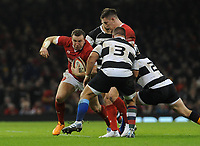 Wales Hadleigh Parkes during the game<br /> <br /> Photographer Ian Cook/CameraSport<br /> <br /> 2019 Autumn Internationals - Wales v Barbarians - Saturday 30th November 2019 - Principality Stadium - Cardifff<br /> <br /> World Copyright © 2019 CameraSport. All rights reserved. 43 Linden Ave. Countesthorpe. Leicester. England. LE8 5PG - Tel: +44 (0) 116 277 4147 - admin@camerasport.com - www.camerasport.com