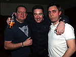 Aidan Carolan, Michael Gorman and Alan Nevin pictured at the 80's night in the Rugby club. Photo: Colin Bell/pressphotos.ie